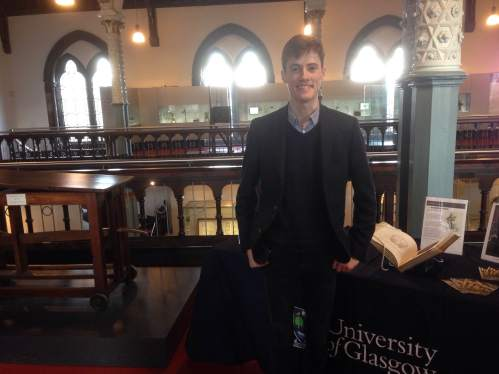 Matthew before a Hunterian Insight talk he delivered about his project, 15/11/16