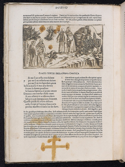 Copper engraving and patriarchal cross in La Commedia (167509)