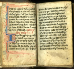 Wycliffe Translation of the New Testament, in English. late 14th Century.