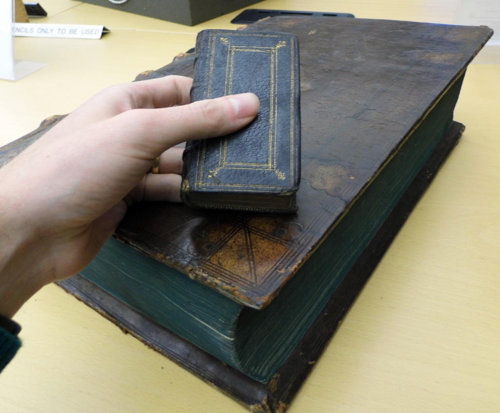 Both big books and small books usually started out being printed on sheets the same size