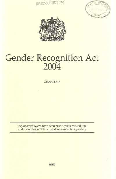 Gender Recognition Act 2004 c. 7