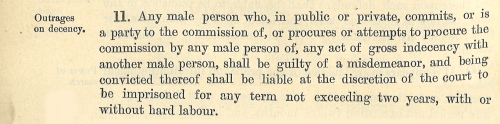 Section 11 of the Criminal Law Amendment Act, 1885