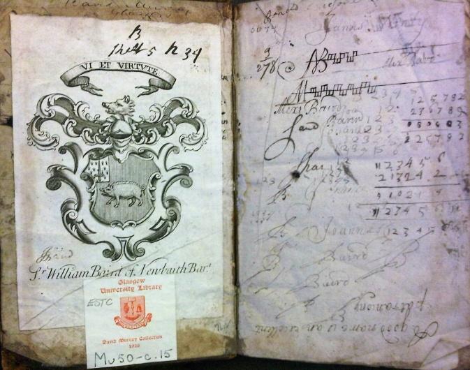 Doodles of the Baird boys (Sp Coll Mu50-c.15)
