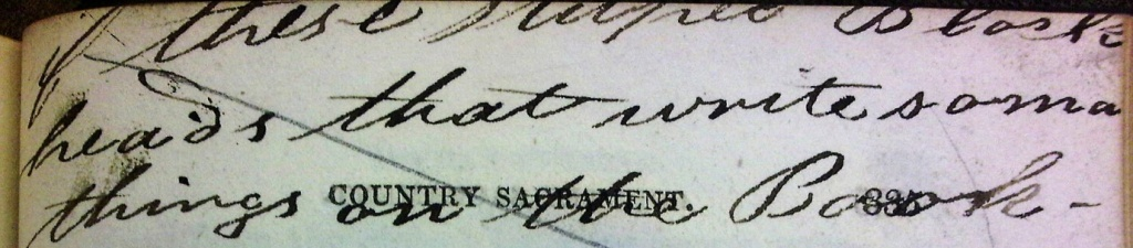 """Student annotation: """"...these people Blockheads that write so ma[ny?] things on the Book..."""" (Sp Coll DN.1.36)"""