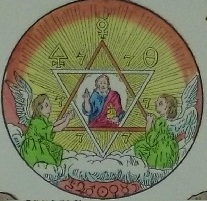 Detail of one of many diagrams from The Secret Symbols of the Rosicrucians by Franz Hartmann