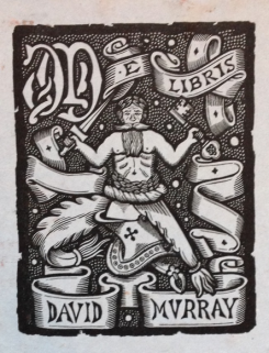 David Murray's bookplate.