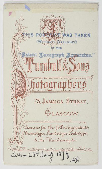 Reverse of luxograph photograph (Dougan Add. 141 Item 31)