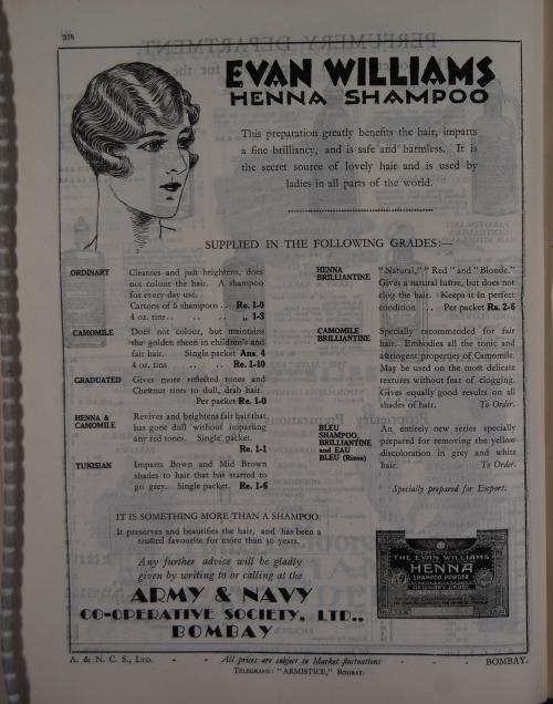 Bombay price list, 1933