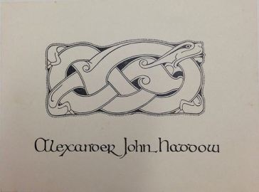 Haddow bookplate