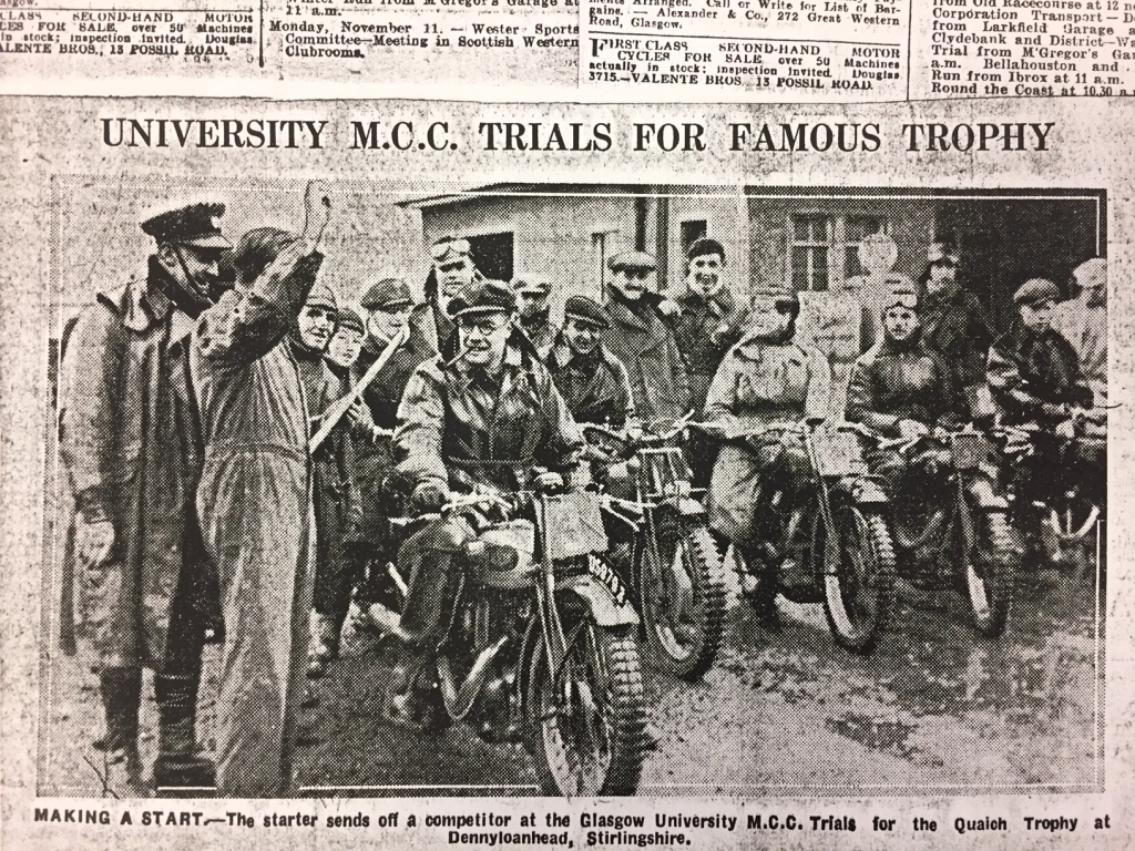 Members of the Glasgow University Motorcycle Club 1935, GUAS UGC 050/1/10