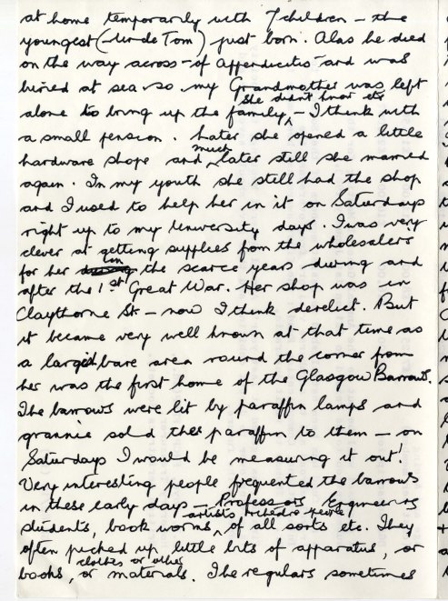 Image of a page of manuscript notes in black ink on white paper.