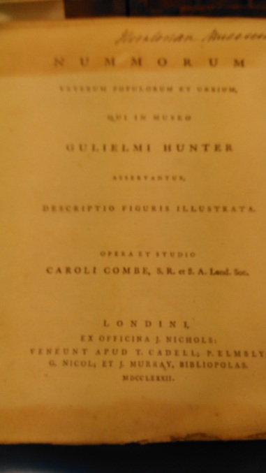 Sp Coll Hunterian G.3.16 title page