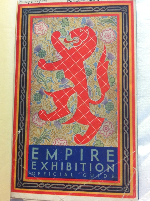 Front cover to Official Guide to the Empire Exhibition (Sp Coll Mu.Add 118