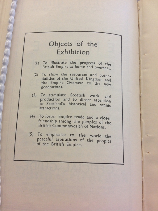 5 aims of the Empire Exhibition (Sp Coll Mu.Add 118