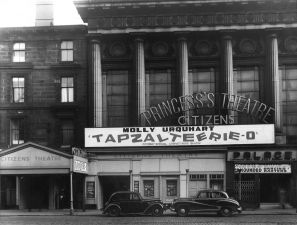Exterior of the Princess's Theatre, Glasgow, 1954. Ref: STA By 2