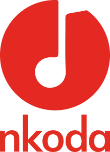 Nkoda Roundal Logo red (Text Below)