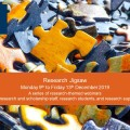 Promotional poster for the Research Jigsaw webinar series. For illustration only.