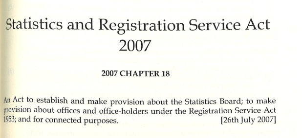 Statistics and Registrations Service Act 2007