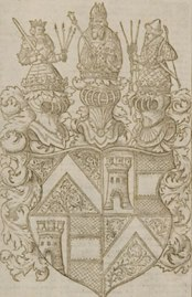 Woodcut of the Herberstein coat of arms