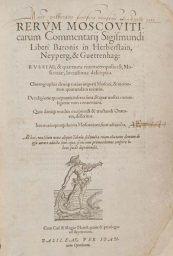 Title page of the third edition of Herberstein's book