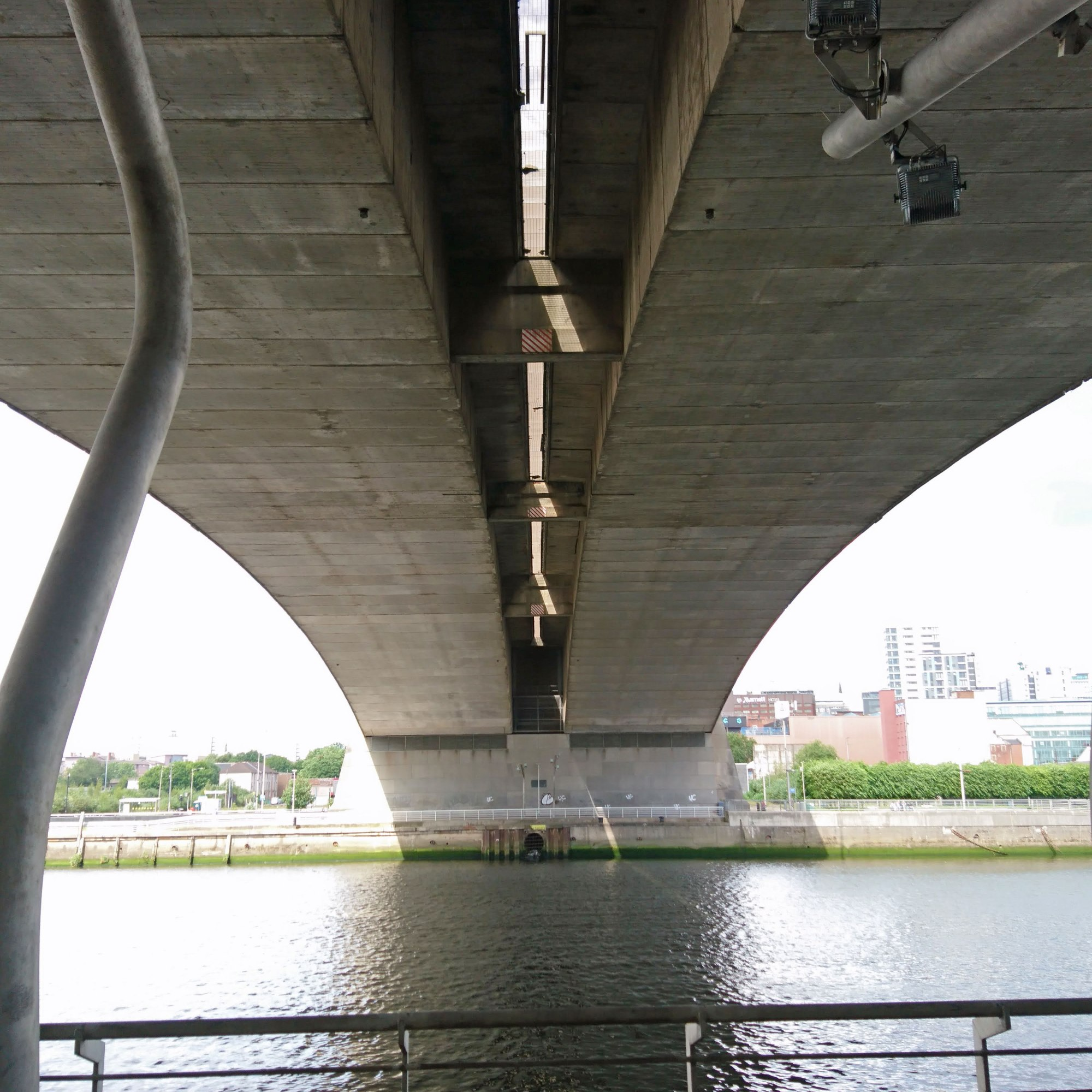 View from below the Kingston Bridge on the south side