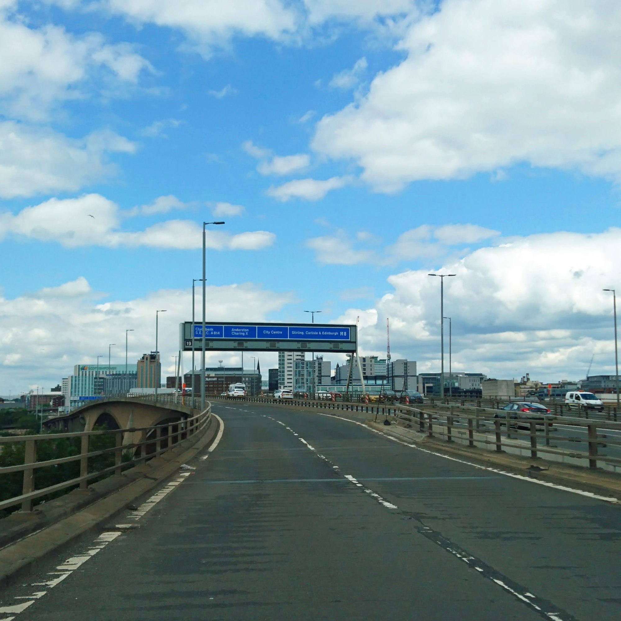 View driving over the Kingston bridge from the south side