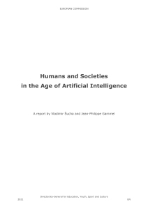 Front cover: Humans and Societies in the Age of Artificial Intelligence